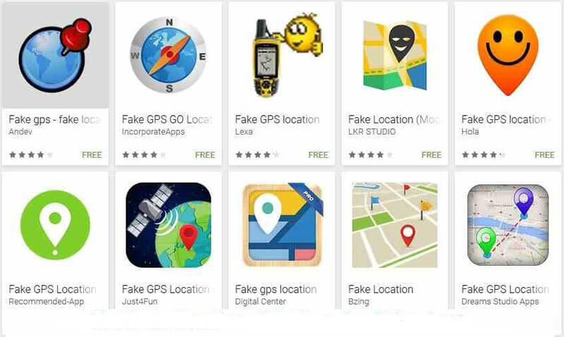 fake gps on android
