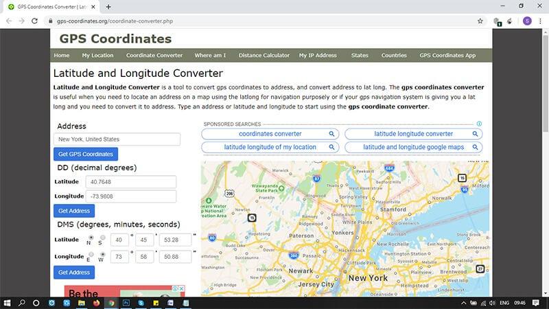 convert gps coordinates