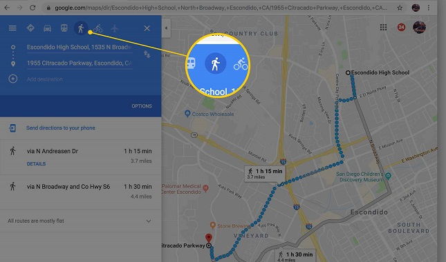 directions current location google- maps 5