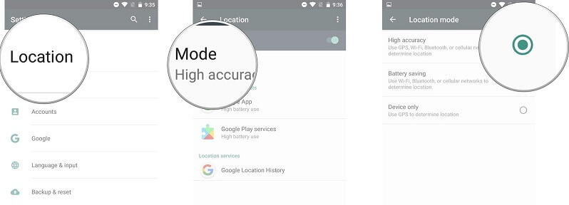 enable location services android 4