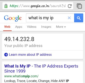 find ip address android 5