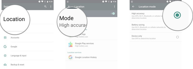 high accuracy gps android 4