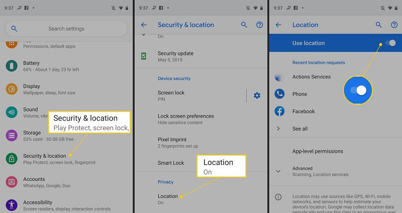 turn off google location services 4
