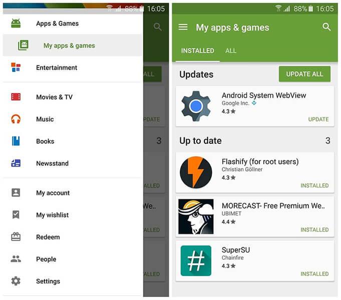 update app
