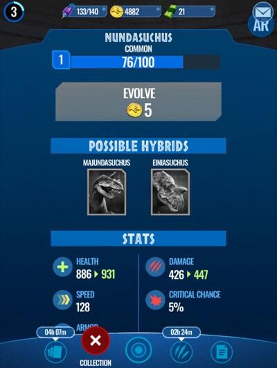 change dinosaur in battles
