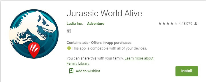 download juraassic world alive