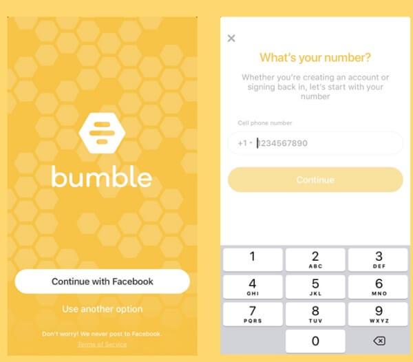 Bumble login with facebook