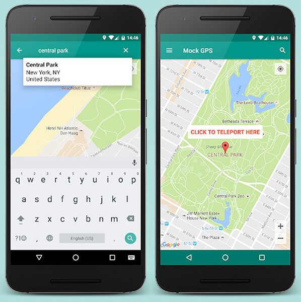 android mock gps with joystick