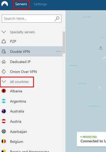 nord vpn servers