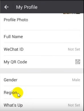 set fake location on wechat 2