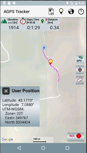 agpstracker app interface