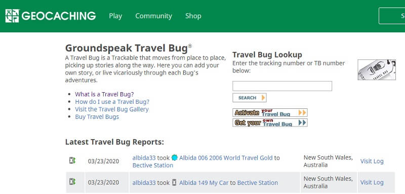 geocaching travel bugs 2