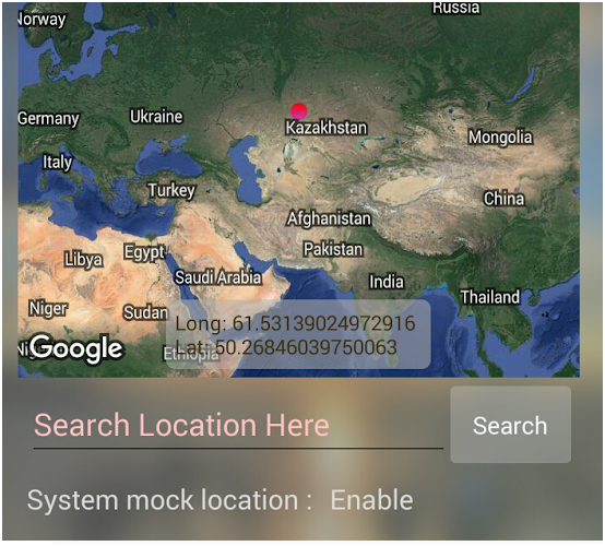 spoof location with joystick on Android setting