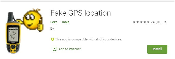 android gps spoofer app