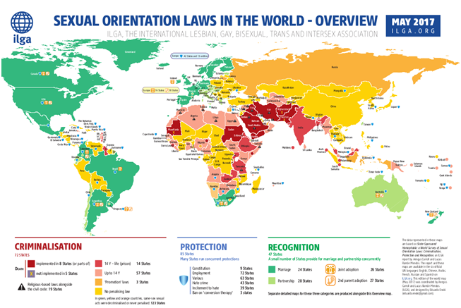 homosexuality is illegal in countries