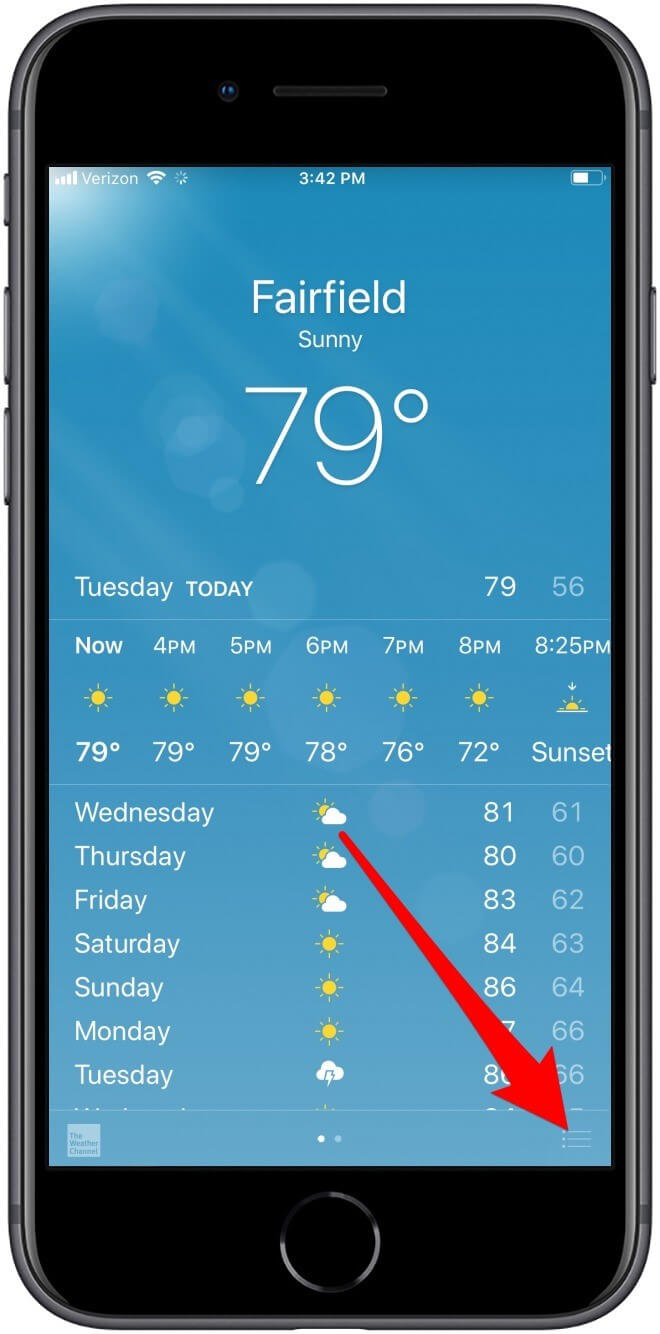 change the weather location services on iphone 6