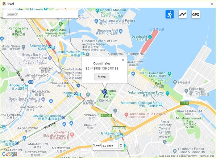 ispoofer map location spoofing