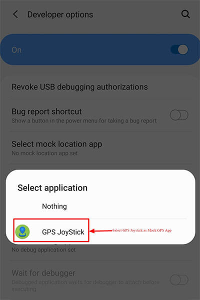 select mock location app gp joystick