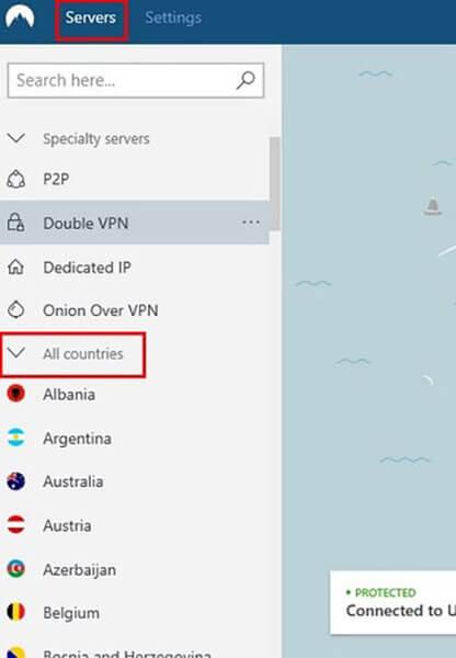 select servers