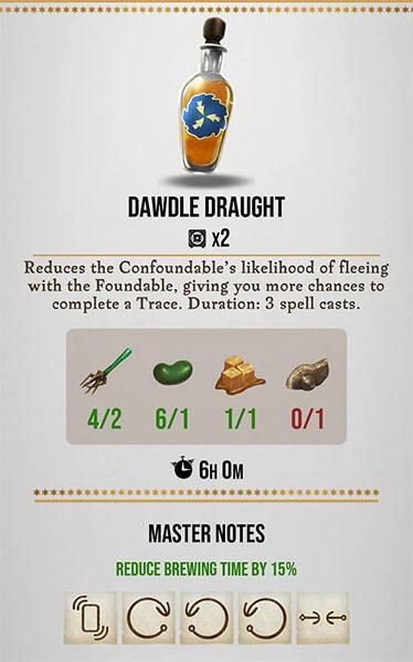 dawdle draught