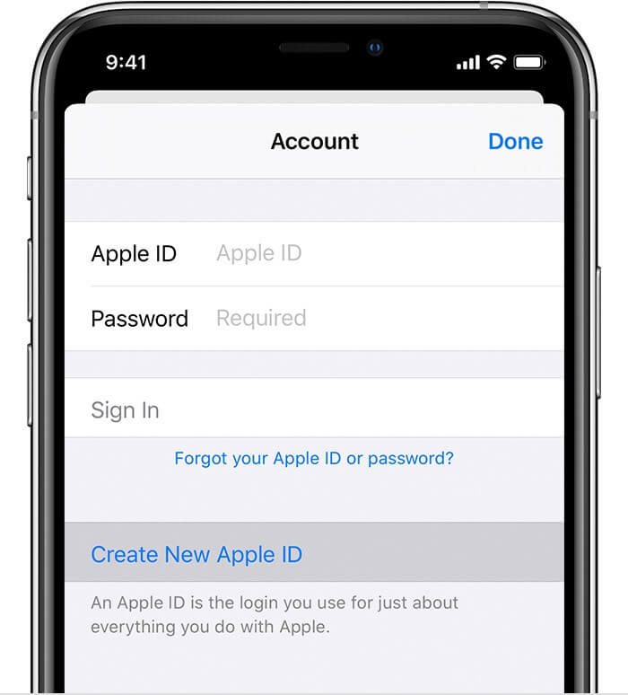 create a new apple id combined with desired country 1