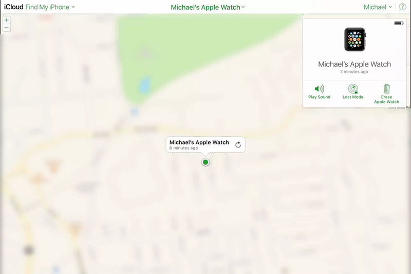 locate apple watch using icloud