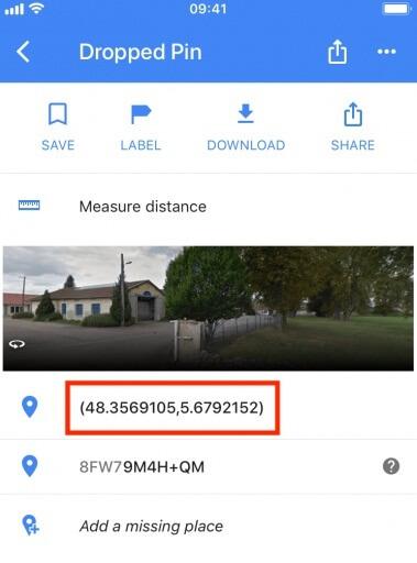 location coordinates