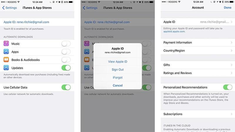 reset apple id region on iphone ipad and ipod 1