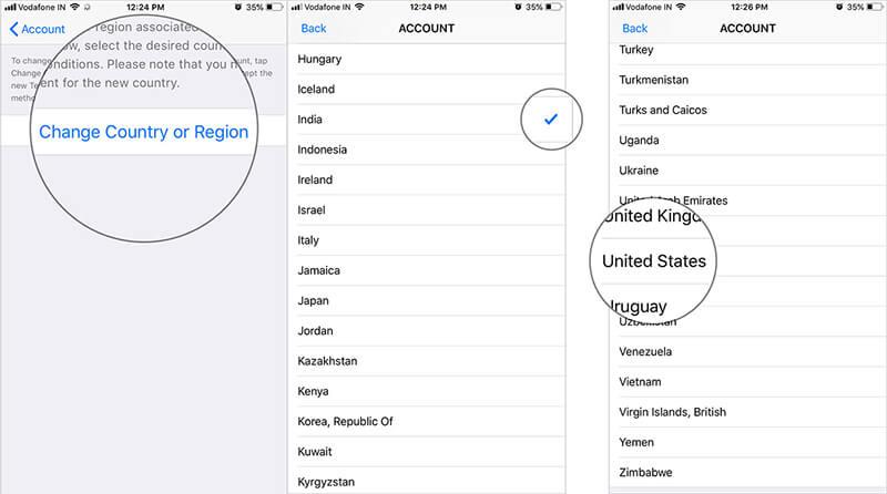 reset apple id region on iphone ipad and ipod 2