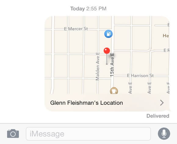 send location on imessage 1