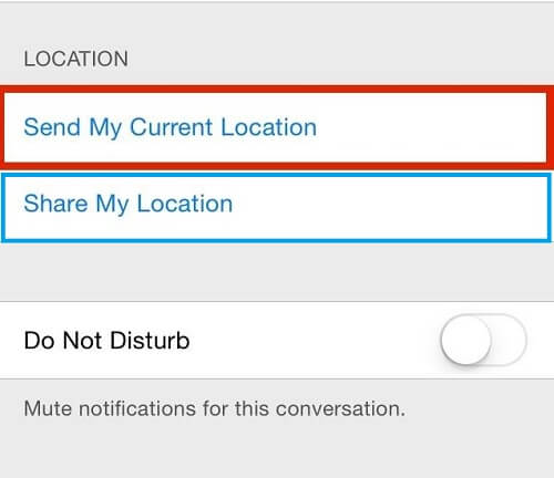 send location on imessage 2