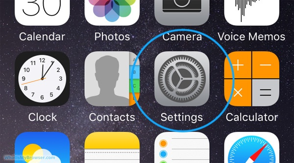settings iphone