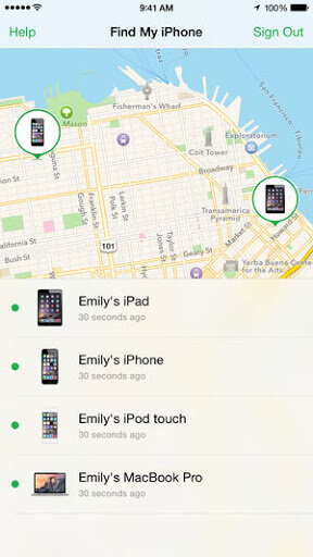 use find my iphone on device 2