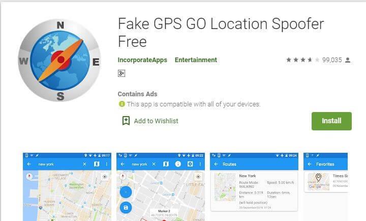 way to install fake gps