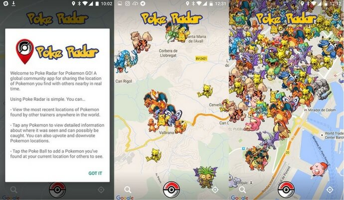 poke radar for android