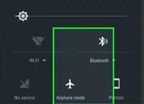 Attiva la modalità aereo per correggere l'errore GPS