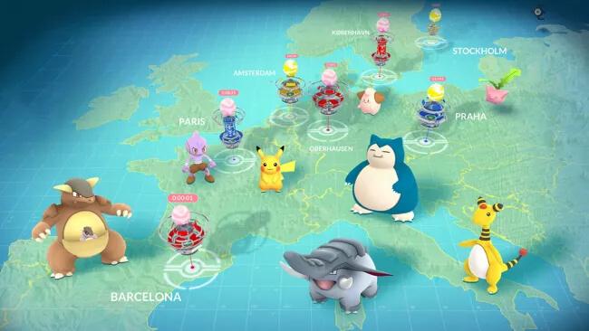 a sample Pokémon map