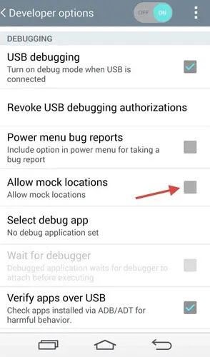 Disabling Mock Location on Android