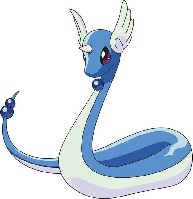 Dragonair, the first evolution of Dratini