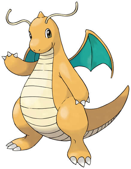 Dragonite, the second evolution of Dratini