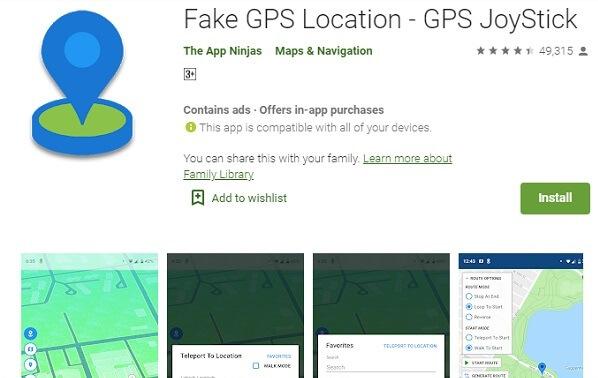 falso gps joystick app