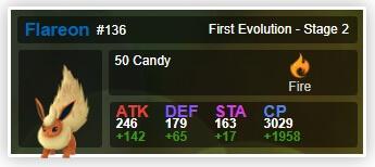 flareon pokemon stats