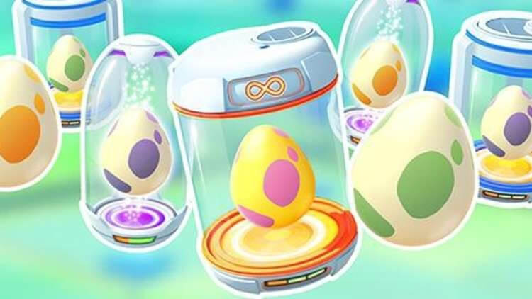 Pokémon Go eggs in the incubator waiting to hatch
