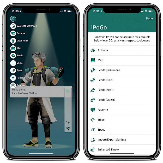 a screenshot of iPogo