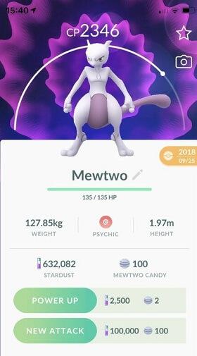 mewtwo pokemon stats