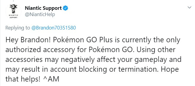 niantic gotcha warning