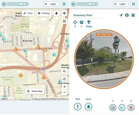 interfaccia mappa pogo
