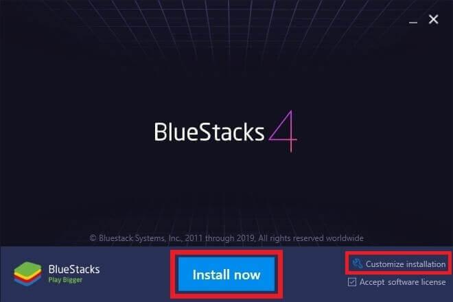install blustacks