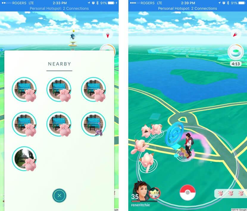 Pokémon go nest