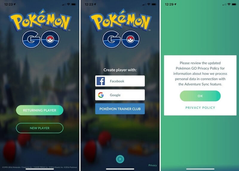 pokemon go account login